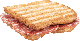 Grilled Salami Toast PNG