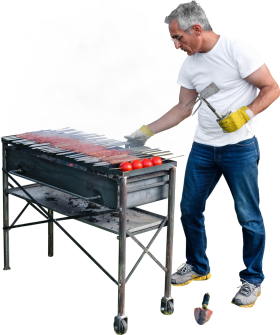Grilling Kebab And Tomatoes PNG