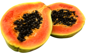 Half Cut Papaya PNG