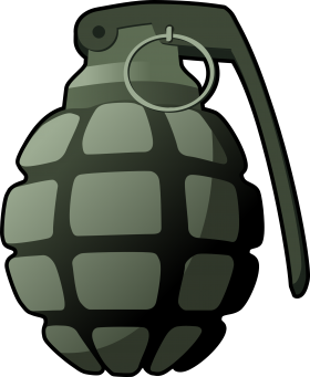 Hand Grenade Clipart PNG