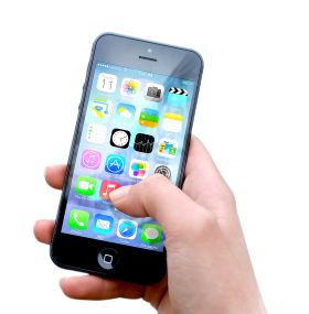 Hand Holding Apple iphone PNG
