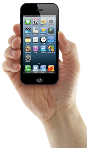 Hand Holding iPhone PNG