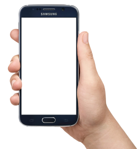 Hand Holding Smartphone PNG