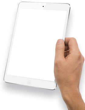 Hand Holding White Tablet PNG