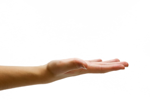 Hand Opened PNG
