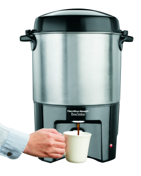 Hand using Coffee Maker PNG