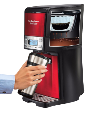 Hand with Coffee Maker PNG