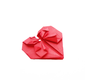 Heart Shaped Origami PNG