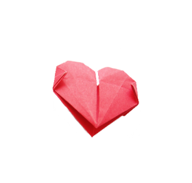 Heart-Shaped Origami PNG