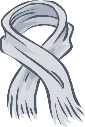 Heather Grey  Scarf PNG