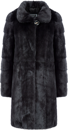 Herno Panelled Fur Coat PNG