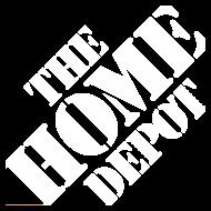 HomeDepot White Logo PNG