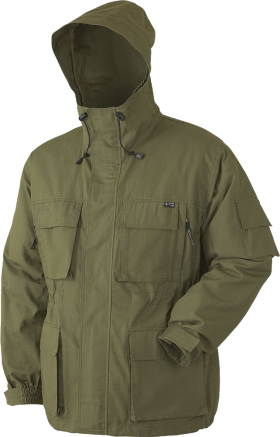 Hooded Deep Green Jacket PNG