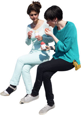 Icecream Sitting PNG