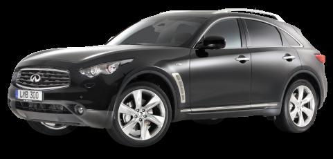 Infiniti FX30d S Black Car PNG