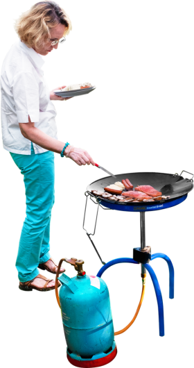 Is Grilling Salmon And Sausages PNG