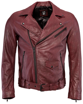 Jack Leather Oxblood Jacket PNG