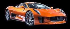 Jaguar C X75 James Bond Orange Car PNG