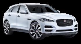 Jaguar F PACE White Car PNG