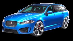 Jaguar XFR Sportbrake Blue Car PNG