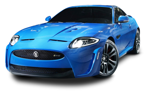 Jaguar XKR S Blue Car PNG