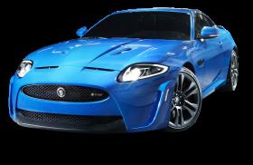 Jaguar XKR S Blue Car PNG