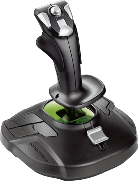 Thrustmaster Black and Green Joystick PNG