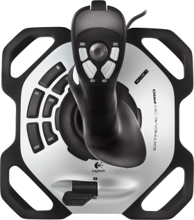 Black and Silver Joystick Topview PNG