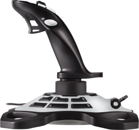 Black and Silver Joystick Sideview PNG