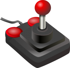 Red Joystick PNG