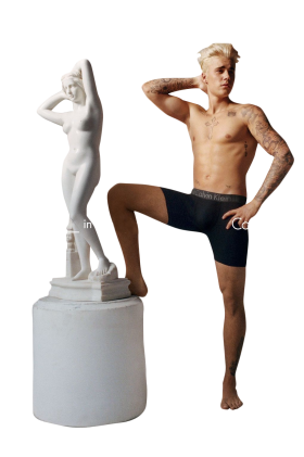 Justin Bieber and Calvin Klein PNG