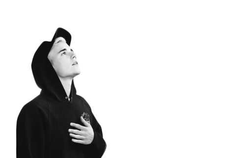 Justin Bieber Black & White PNG