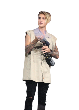 Justin Bieber Holding Gas Canone PNG