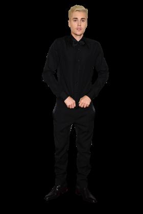 Justin Bieber in Black PNG