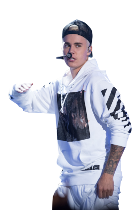 Justin Bieber on Stage PNG