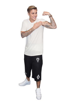 Justin Bieber Showing Muscle PNG