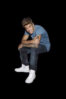 Justin Bieber Sitting PNG