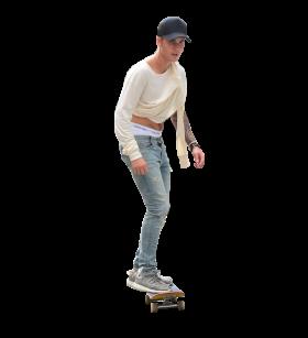 Justin Bieber Skateboarding PNG