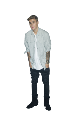 Justin Bieber Standing PNG