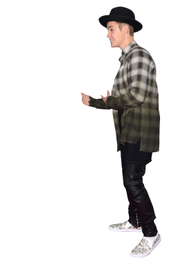 Justin Bieber with Hat PNG
