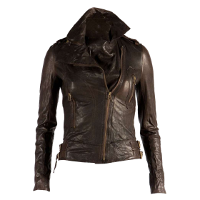 Karen Marce Leather Jacket PNG