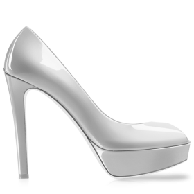Kheila White Women Shoe PNG