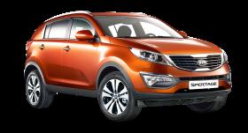 Kia Sportage 3 Orange Car PNG