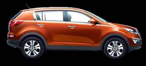 Kia Sportage Orange Car PNG