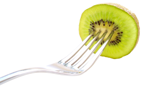Kiwi Fruit with Fork PNG