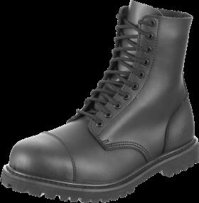 Lady Black Combat Boots PNG