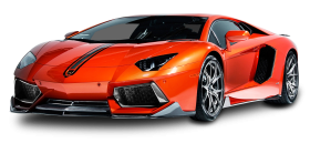 Lamborghini Aventador Coupe Red Car PNG