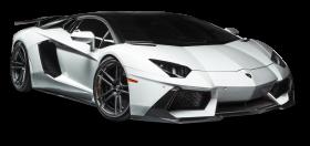 Lamborghini Aventador LP White Car PNG