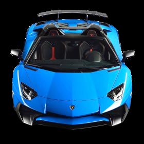 Lamborghini Aventador SV Roadster Blue Car PNG