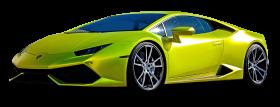 Lamborghini Huracan Green Car PNG